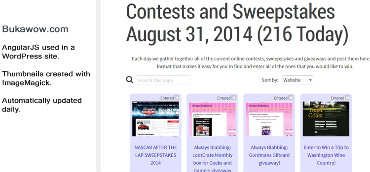 Contests and Sweepstakes Directory